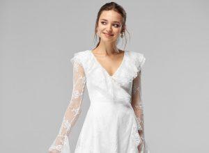 Beyaz Dantel Elbise Kombinleri